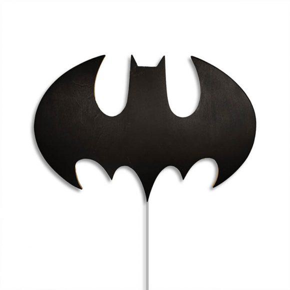 Ξύλινο Χειροποίητο Φωτιστικό Batman