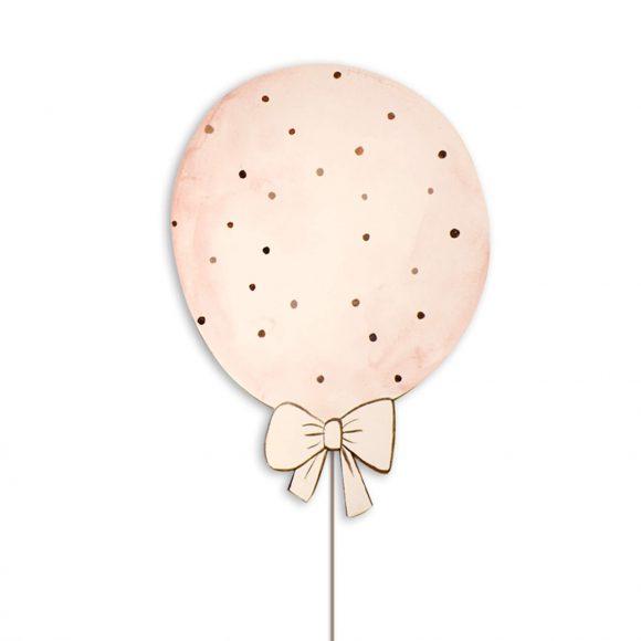 Ξύλινο Χειροποίητο Φωτιστικό Μπαλόνι